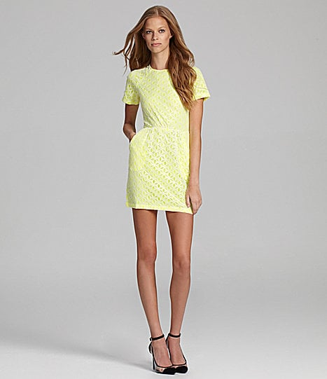 There's nothing wrong with getting ahead on Spring's trends, especially with a neon dress like this DV by Dolce Vita Ritsa Neon Lace Cutout-Back Dress ($121). For the nontraditional girl, this might just be the perfect little date dress.