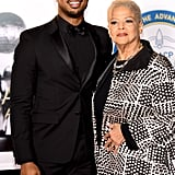 Pictured: Michael B. Jordan and Donna Jordan