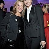 Stacy Keibler and Vanity Fair's Krista Smith posed for a picture.