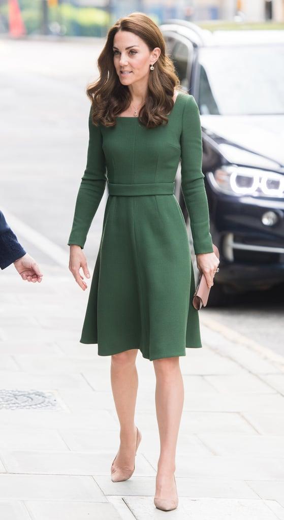 5c403f83fe Kate Middleton Green Emilia Wickstead Dress May 2019