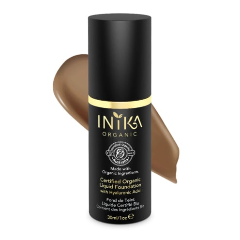 Inika Organic Certified Organic Liquid Foundation with Hyaluronic Acid