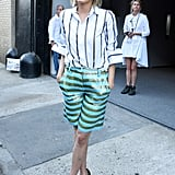 Source J.Crew, Zara, or a fun designer like DVF for high-shine, embellished shorts that are clearly next-level chic.