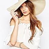ASOS Oversized Straw Hat With Crochet Insert ($25)