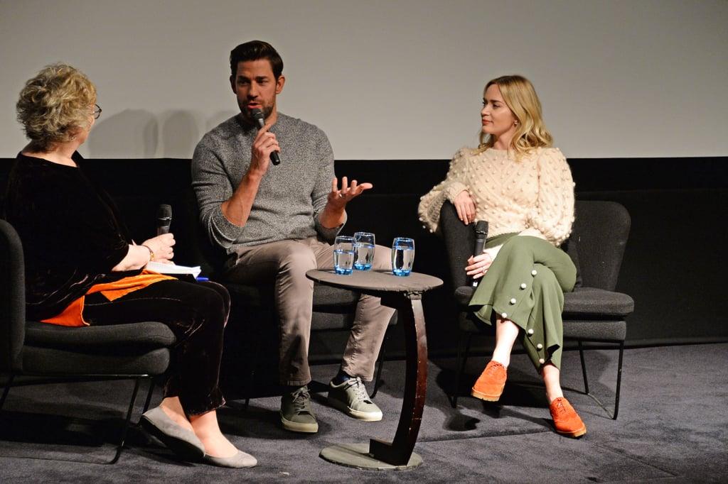 Emily Blunt and John Krasinski at A Quiet Place Screening
