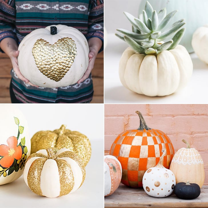 no carve pumpkin ideas popsugar smart living - Halloween Pumpkin Designs Without Carving