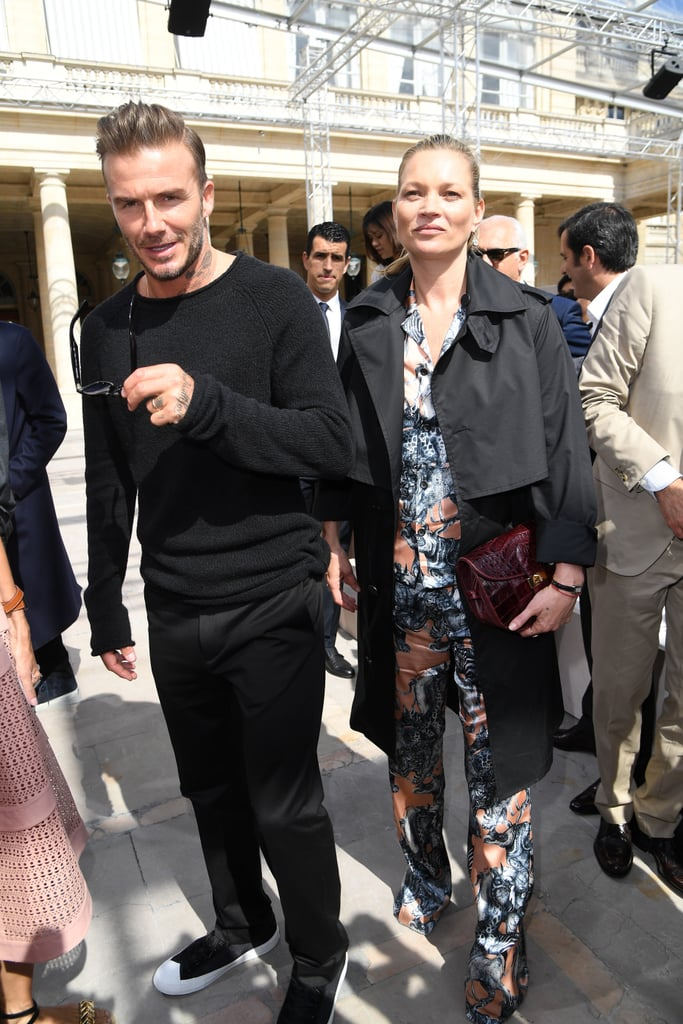 Kate Moss Wore a Matching Set to the Louis Vuitton Show