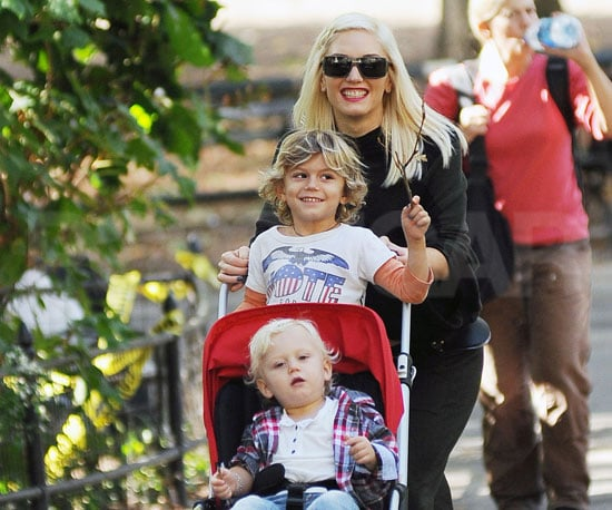 Slide Picture of Kingston and Zuma With Gwen Stefani at Central Park