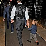 Matthew McConaughey and his son, Levi, walked hand in hand through the Empire Hotel.