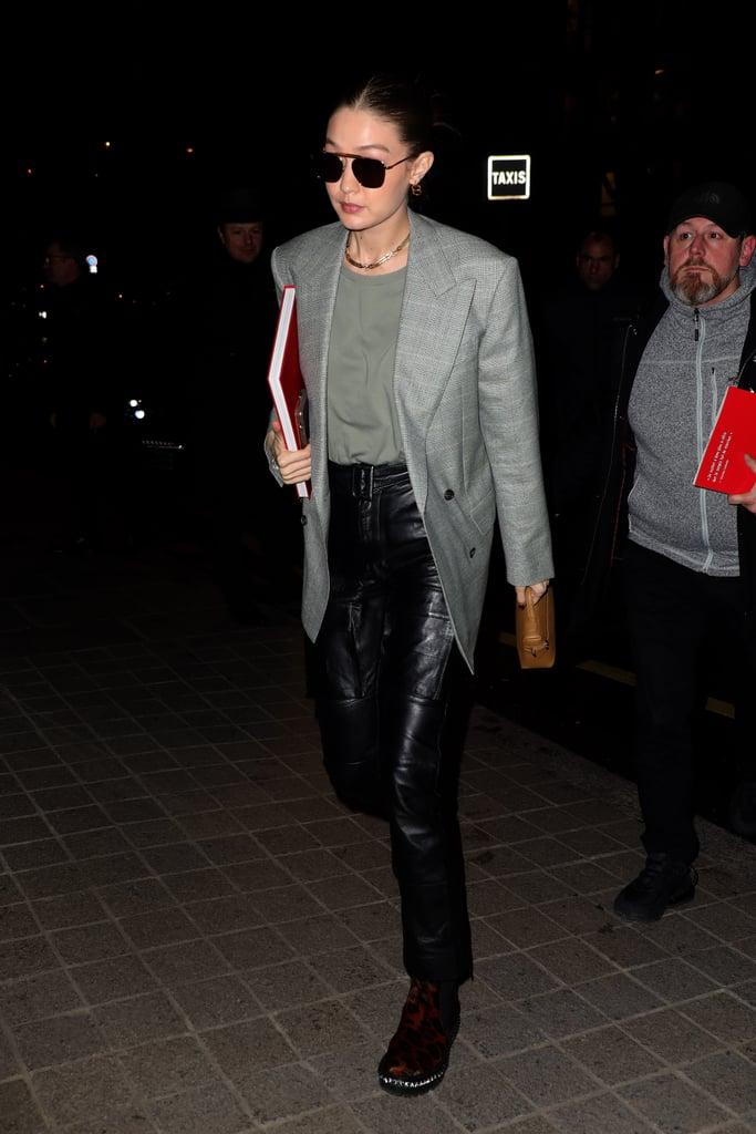Gigi Hadid at Paris Fashion Week 2020