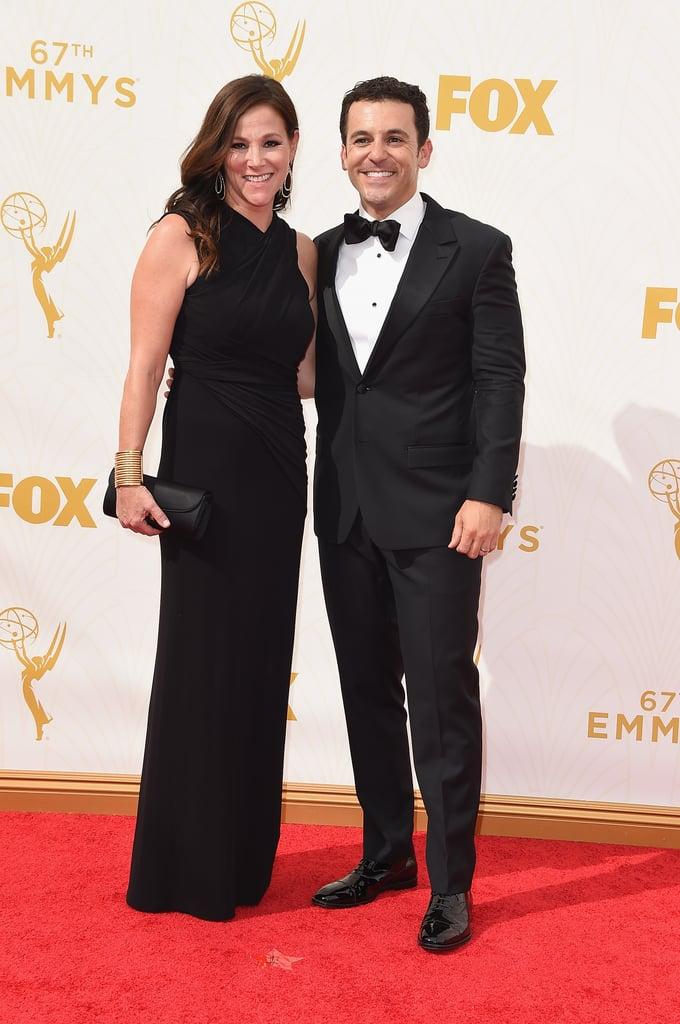 fred savage and jennifer lynn stone celebrity couples at the emmy awards 2015 pictures. Black Bedroom Furniture Sets. Home Design Ideas
