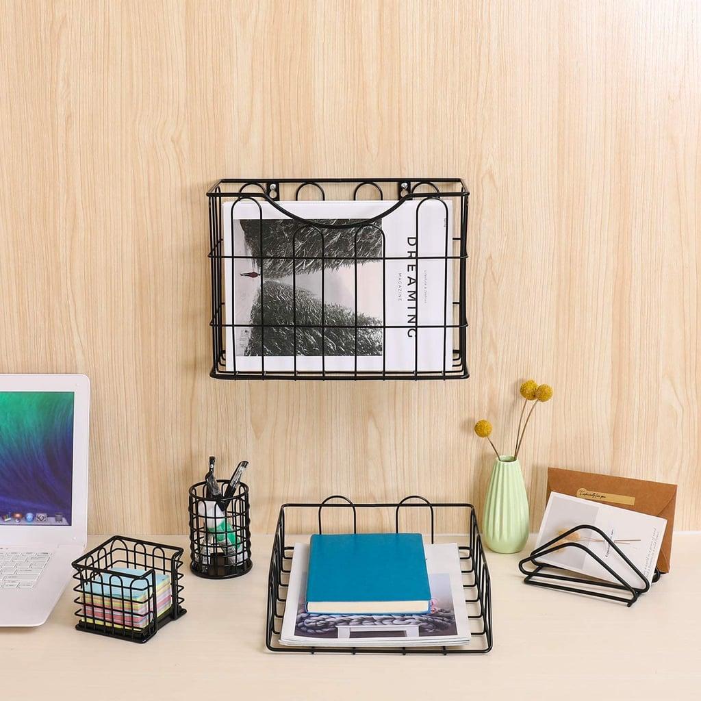 Superbpag Office 5 in 1 Desk Organizer Set