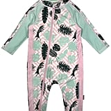 SwimZip Little Girl Long Sleeve Sunsuit Romper Swimsuit UPF 50