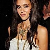 Jessica Alba With Deep Brown Wavy Hair 2010