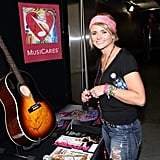Miranda Lambert hit up the MusiCares booth to sign her autograph.