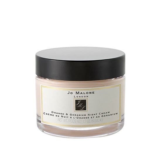 Jo Malone Orange and Geranium Night Cream, $60  Soothing geranium and detoxifying orange in this rich cream work to revive complexions overnight.