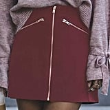 Forever 21 Zip-Front Mini Skirt