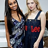 Leigh-Anne Pinnock and Anais Gallagher at House of Holland