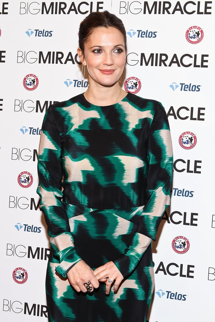 Drew Barrymore hit the red carpet for Big Miracle.