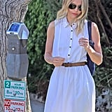 Kate Bosworth paid a parking meter in West Hollywood.