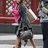 Pippa Middleton in the Rain in London