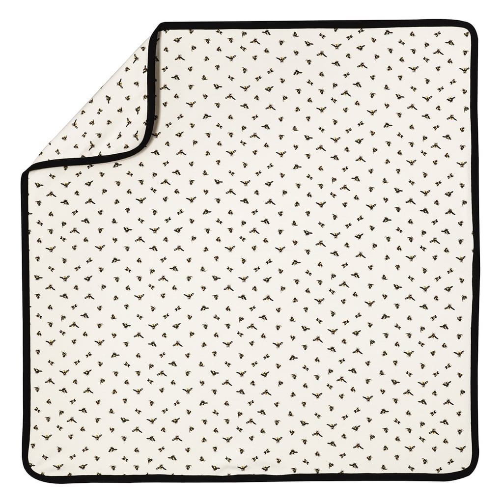 Baby Bee Print Knit Blanket  ($13)