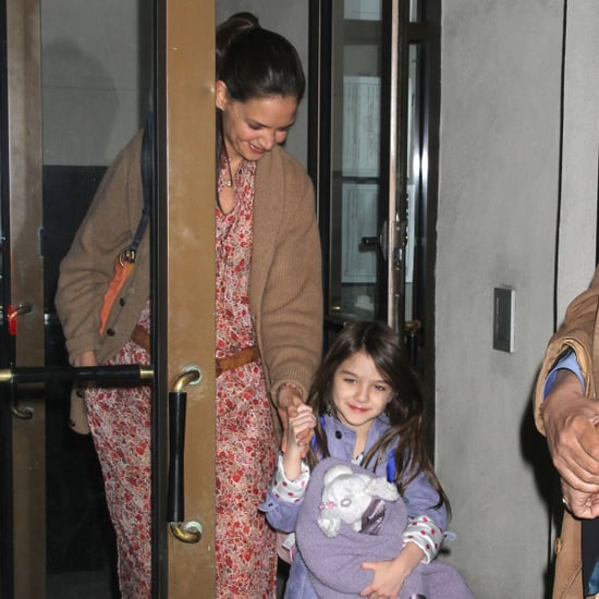 Katie Holmes and Suri Cruise Leaving Home in NYC Pictures