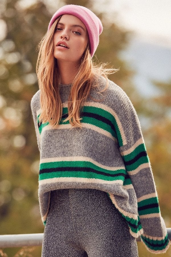 Urban Outfitters Oversized Striped Boyfriend Sweater
