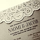 Lace Wedding Program