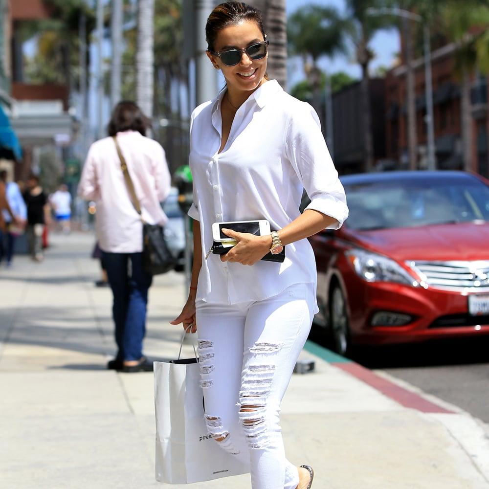 Beliebt Eva Longoria Wearing White in Los Angeles July 2016 | POPSUGAR Latina XU36