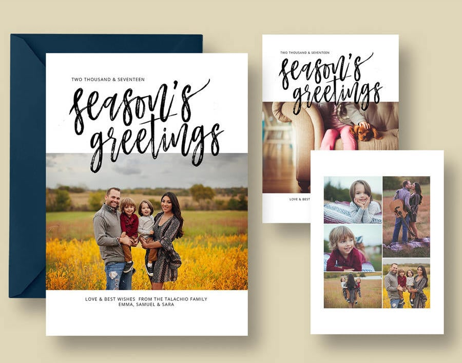 Season\'s Greetings Christmas Card from Etsy ($8 template) | Best ...