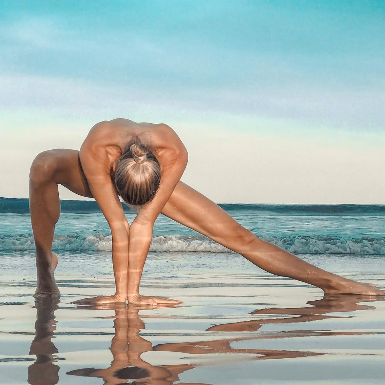 Naked Yoga on the Beach