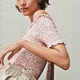 H&M Smocked Off-the-shoulder Top