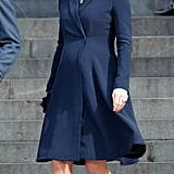 Kate wore head-to-toe navy while attending a Service of Commemoration to mark the end of combat operations in Afghanistan on March 13, 2015.