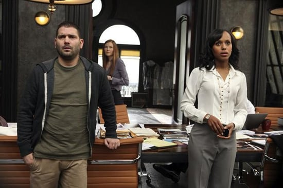 Guillermo Diaz, Darby Stanchfield, and Kerry Washington in Scandal.</p> <p>Photos copyright 2012 ABC, Inc.