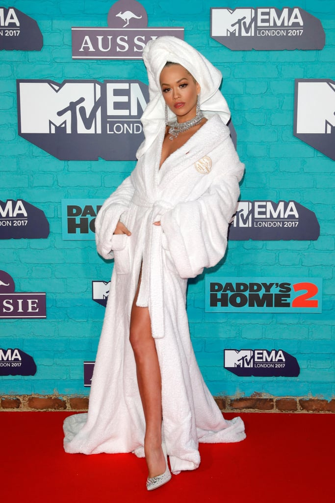 Rita Ora Wearing Bath Robe MTV Europe Music Awards