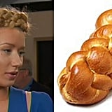 Iggy's hair was definitely giving some challah-bread vibes.