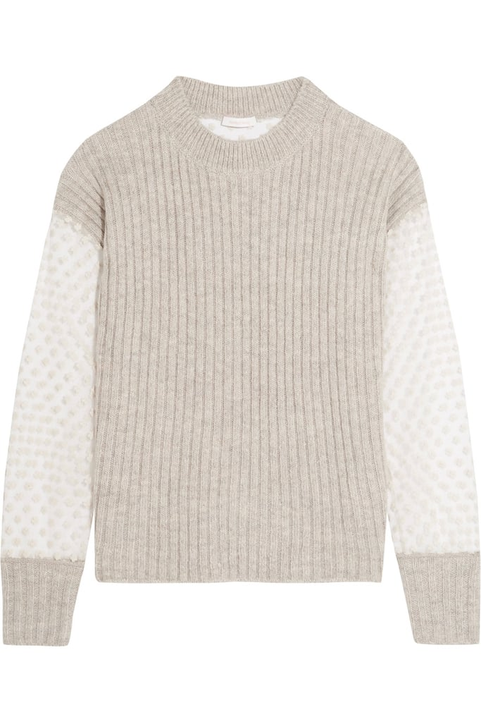 See by Chloe Knitted and Embroidered Tulle Sweater Sweater ($430)