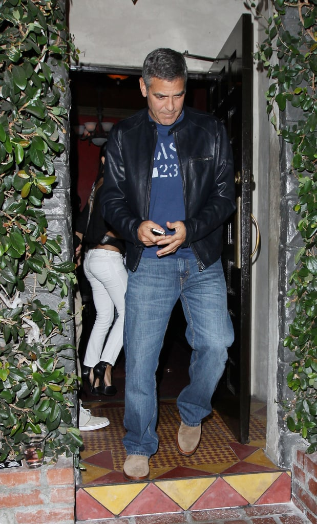 George Clooney Treats Himself to Dinner With a Friend