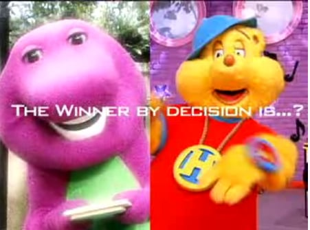 The Ultimate Showdown: Barney Vs. Hip Hop Harry
