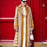 Winter Outfit Idea: A Longline Coat Over a Minimal Dress