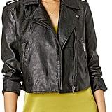 The Drop Carmen Faux-Leather Moto Jacket