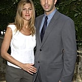 Jen and her onscreen love David Schwimmer attended a charity event in LA together in September 2003.
