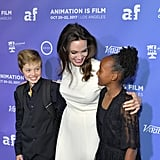 October: Angelina Had a Girls' Night Out With Shiloh and Zahara at the LA Premiere of Her Movie