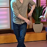 Channing Tatum got down during a TV appearance in Miami in June.