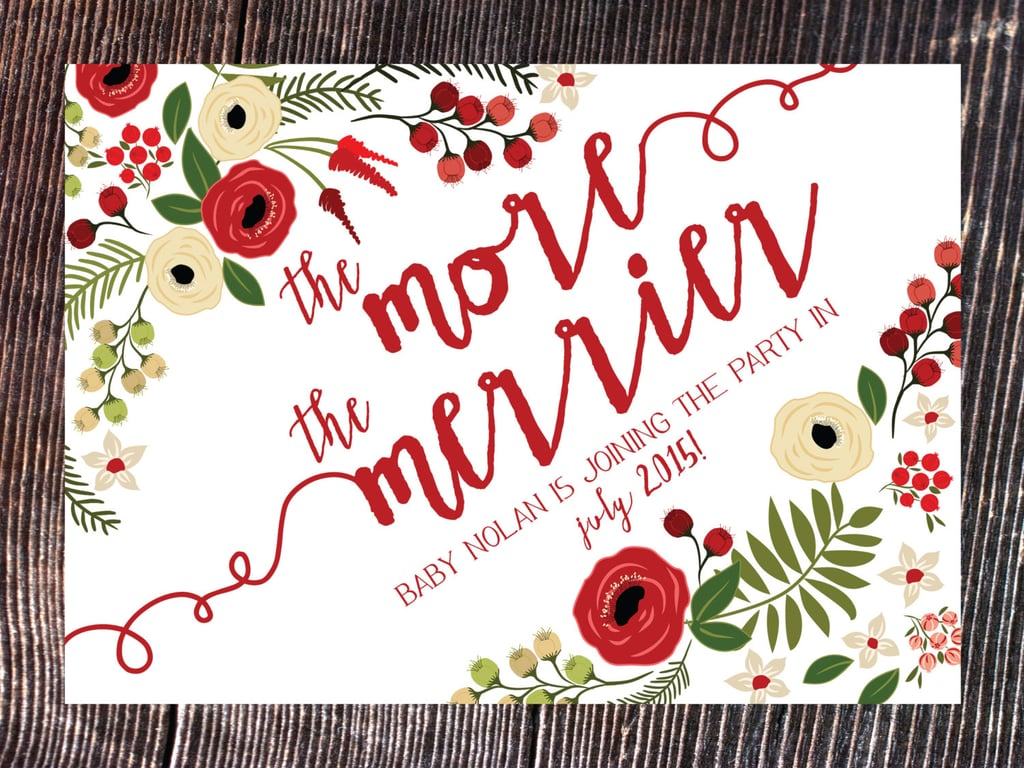 The More The Merrier Pregnancy Holiday Card
