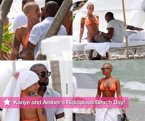 Photos of Kanye West and Bikini-Clad Model Girlfriend in Miami