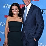 Julia Louis-Dreyfus had the support of husband Brad Hall at the Veep screening in NYC on Monday.