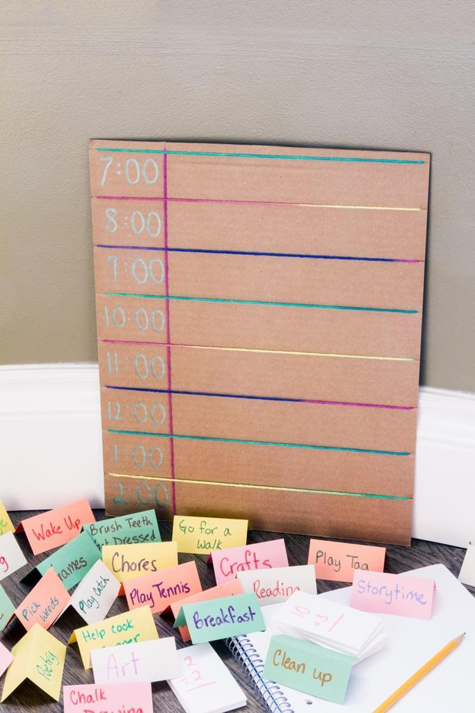 Create a Family Schedule