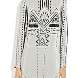 We'd wear this Aztec print dress to an outdoor wedding party.  Tibi Print Crepe Dress ($280, originally $400)