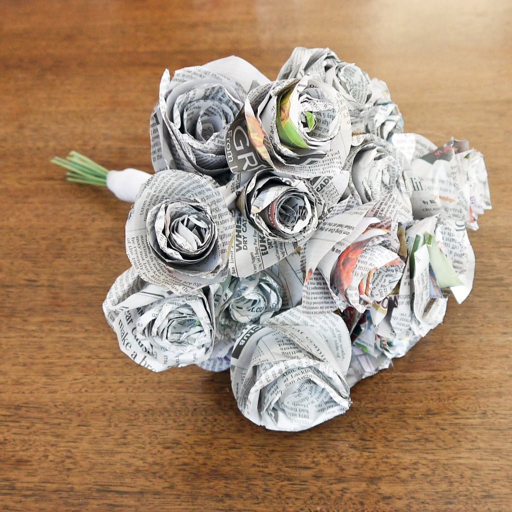 Diy Newspaper Wedding Bouquet Popsugar Smart Living